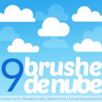 19 Brushes de Nubes para Photoshop