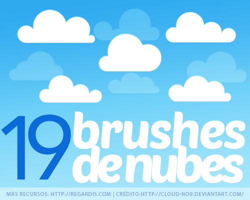 19 Brushes de Nubes para Photoshop