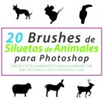 20 Brushes de Siluetas de Animales