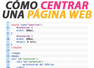 Cómo centrar una Página Web
