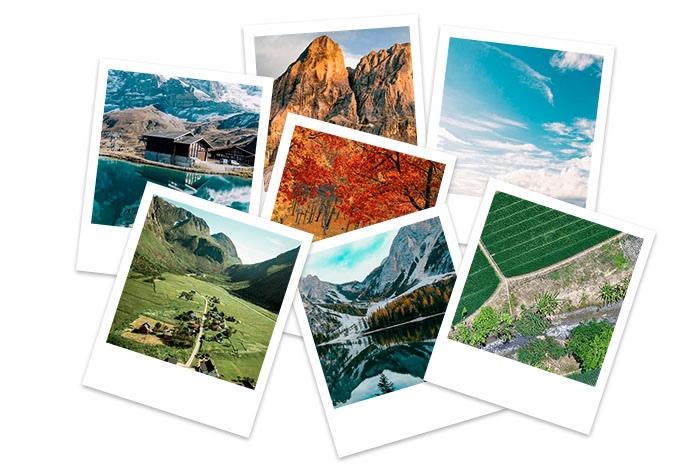 Cómo hacer un collage de fotos desordenado en Photoshop