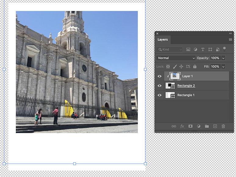 Acomodar foto para que entre en el collage en Photoshop