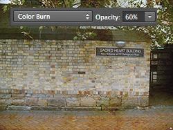 Usar Blend Mode: Color Burn para Textura