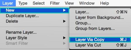 Cómo convertir selección a capa en Photoshop
