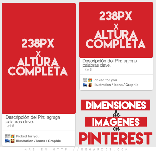 Dimensiones de las imágenes en Pinterest