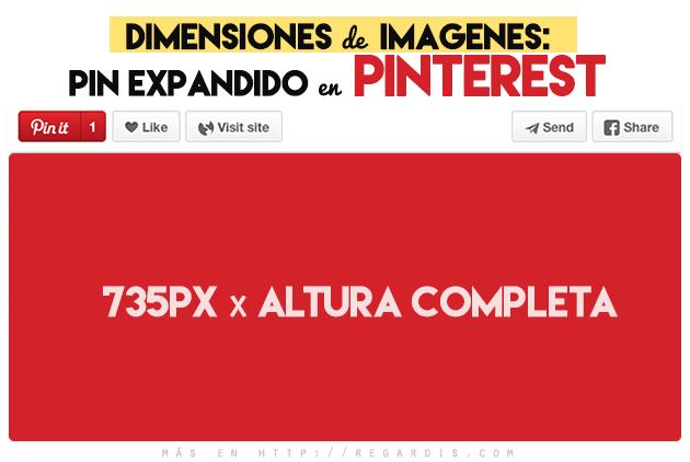 Dimension de imágenes: Pin expandido en Pinterest