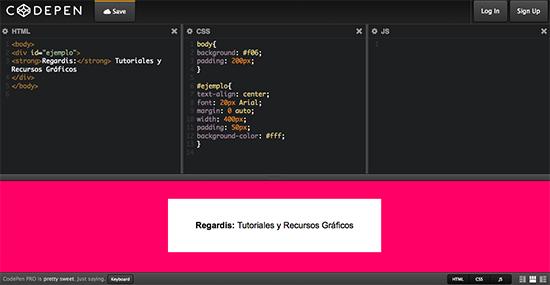 Editores de HTML y CSS Online: CodePen