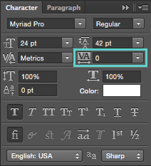 Cómo aumentar y reducir el espacio entre letras en Photoshop