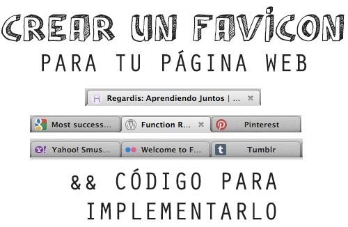 Crear un FAVICON para tu página web