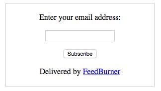 Cómo personalizar la caja de suscripción de FeedBurner