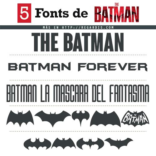5 Fonts Batman (Tipografía Similar)