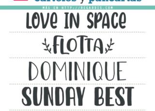 5 Fonts para carteles y pancartas gratis