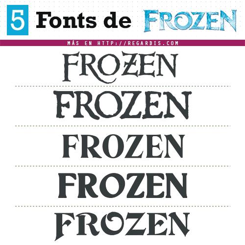5 Fonts Frozen (Tipografía Similar)