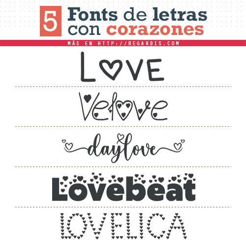 5 Fonts de letras con corazones (Gratis)