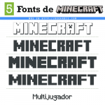 5 Fonts Minecraft (Tipografía Similar)