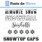 Descarga fuentes de nieve (Tipografías Gratis)