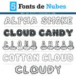 Descarga gratis fuentes de nubes