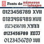 Descarga fonts de números para tatuajes gratis