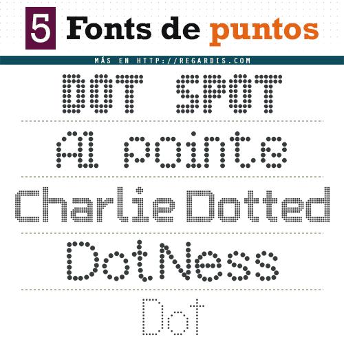 5 Fonts de puntos (Gratis)