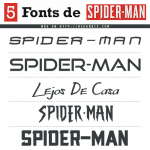 5 Fonts Spiderman (Tipografía Similar)