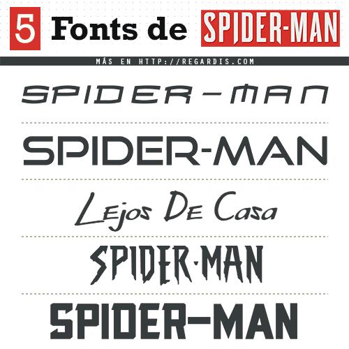 5 Fonts Spiderman (Tipografía Similar)