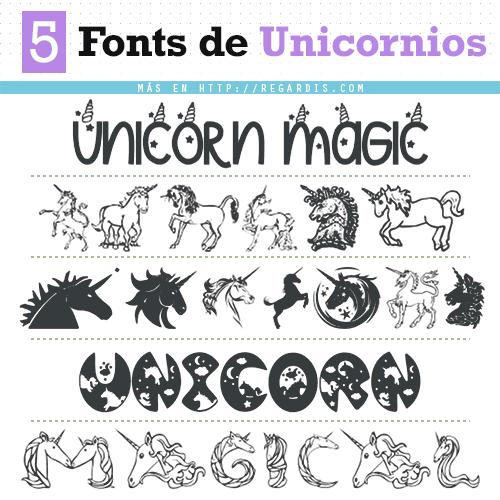 Descarga fuentes de unicornios gratis