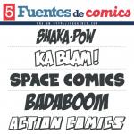 5 Fuentes de Comics (Gratis)