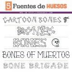 Fuentes de Tipografía de Huesos (Gratis)