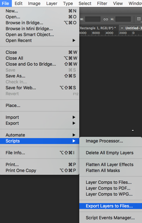 Cómo guardar cada capa de Photoshop en un archivo PNG