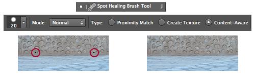 Herramienta Spot Healing Brush Tool