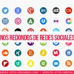 +48 Íconos Redondos de Redes Sociales Gratis