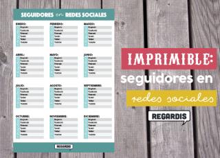 Imprimible de seguidores en redes sociales por mes (.PDF)