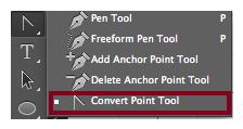 Símbolo de Infinito en Photoshop - Convert Point Tool