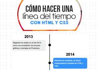 Cómo hacer una línea del tiempo con HTML y CSS