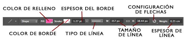 Barra de Línea en Photoshop
