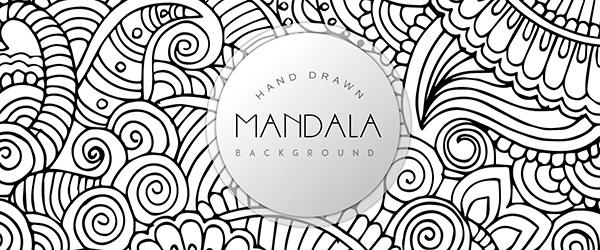 Mandala Gratis de Patrón de Fondo