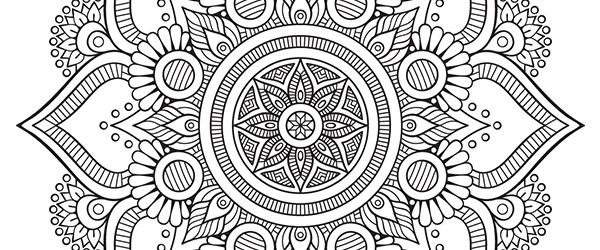 Mandala Gratis Floral para Descargar