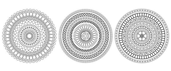 6 Mandalas Básicas Gratis para Descargar