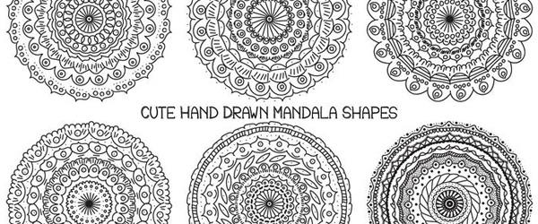 6 Mandalas Gratis Dibujadas a Mano