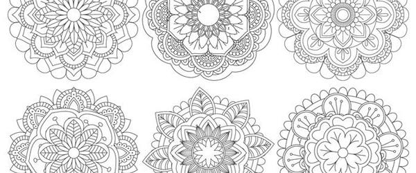6 Mandalas Gratis de Flores Hermosas