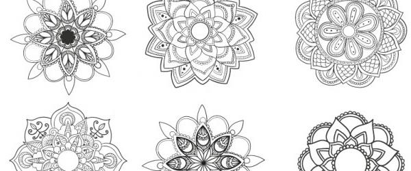 9 Mandalas Florales y Abstractas para Descargar