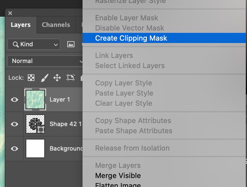 Cómo crear una máscara de recorte o clipping mask en Photoshop