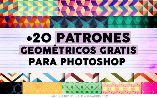 +20 Patrones Geométricos Gratis para Photoshop