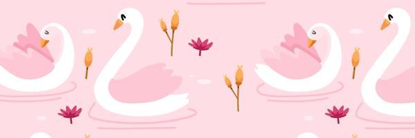 Patrones de cisnes - lindos animales