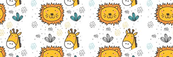 Pattern de leon y jirafa - lindos animales