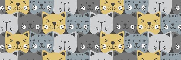 Patrón de gatitos