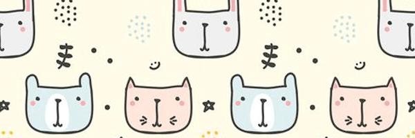 Patrones de lindos animales: conejos y gatos