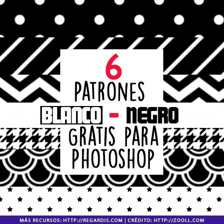 6 Patrones Blanco y Negro Gratis para Photoshop