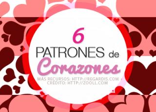 6 Patrones de Corazones para Photoshop Gratis