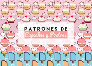 4 Patrones de Cupcakes y Postres para Photoshop (.PAT)
